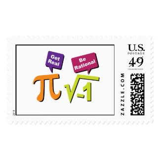 Get Real - Be Rational Postage Stamps
