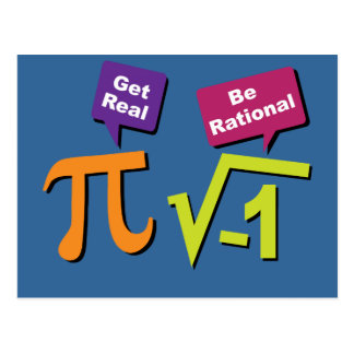 Get Real - Be Rational Postcard