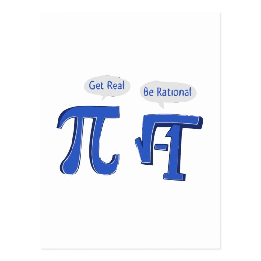 Get Real Be Rational Postcard