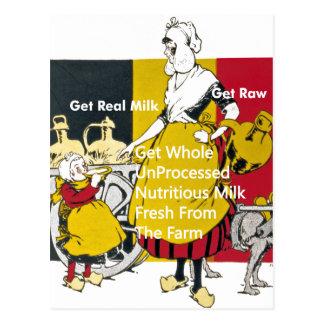 Get Real Milk - Get Raw Postcard