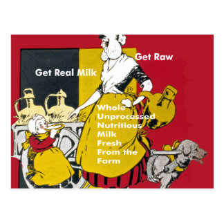 Get Real Milk- Get Raw Vintage Poster Postcard
