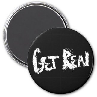 Get Real (Solid Color) 3 Inch Round Magnet