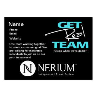 Get Real Team Chubby Cards Large Business Cards (Pack Of 100)