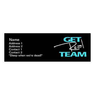 Get Real Team - Skinny Card Business Cards