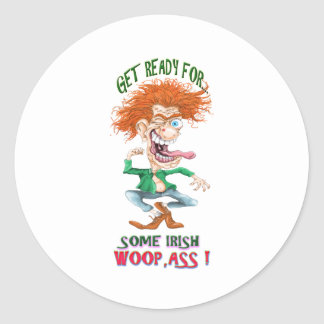 get reay for som irish woopass classic round sticker