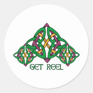 Get Reel Classic Round Sticker