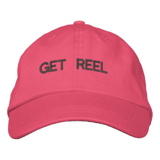 Get Reel Fishing Embroidered Hat Pink