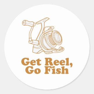 Get Reel, Go Fish Classic Round Sticker
