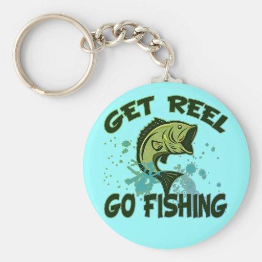 Get Reel Go Fishing Key Chain