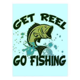 Get Reel Go Fishing Postcard