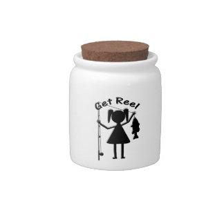 Get Reel - Little Girls Fishing Candy Jars
