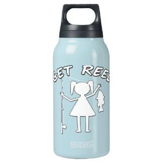 Get Reel - Little Girls Fishing Insulated Water Bottle