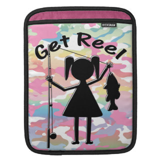 Get Reel - Little Girls Fishing Sleeves For iPads