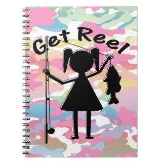 Get Reel - Little Girls Fishing Notebook