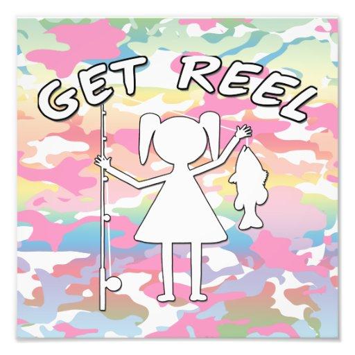 Get Reel - Little Girls Fishing Photo Art