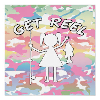 Get Reel - Little Girls Fishing Posters