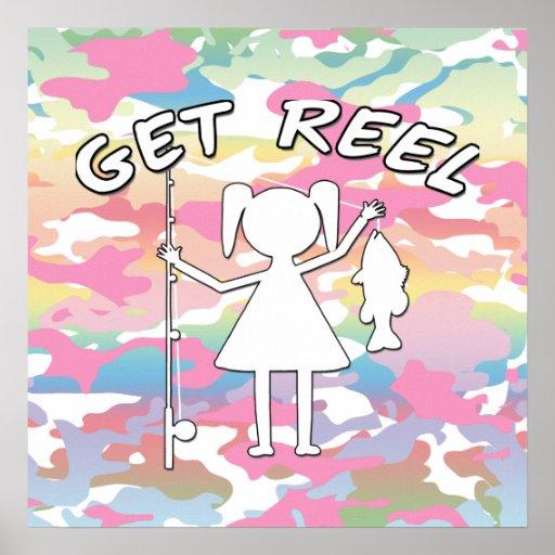 Get Reel - Little Girls Fishing Posters