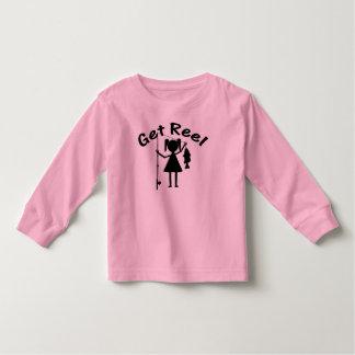 Get Reel - Little Girls Fishing Toddler T-shirt