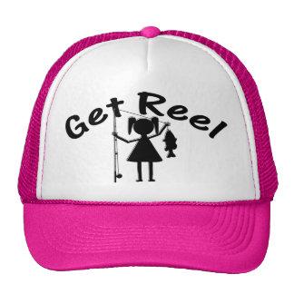 Get Reel - Little Girls Fishing Trucker Hat