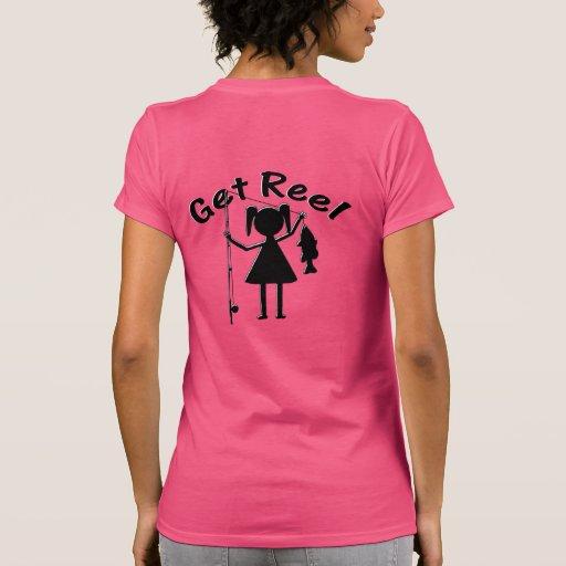 Reel girls fish t shirts shirts and custom reel girls for Women s fishing t shirts