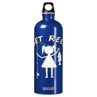 Get Reel - Little Girls Fishing Water Bottle