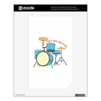 Get Rhythm Decal For The NOOK Color