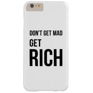 Get Rich Business Success Quote Black White Barely There iPhone 6 Plus Case