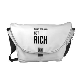 Get Rich Business Success Quote Black White Courier Bags
