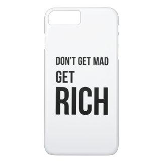 Get Rich Business Success Quote Black White iPhone 7 Plus Case