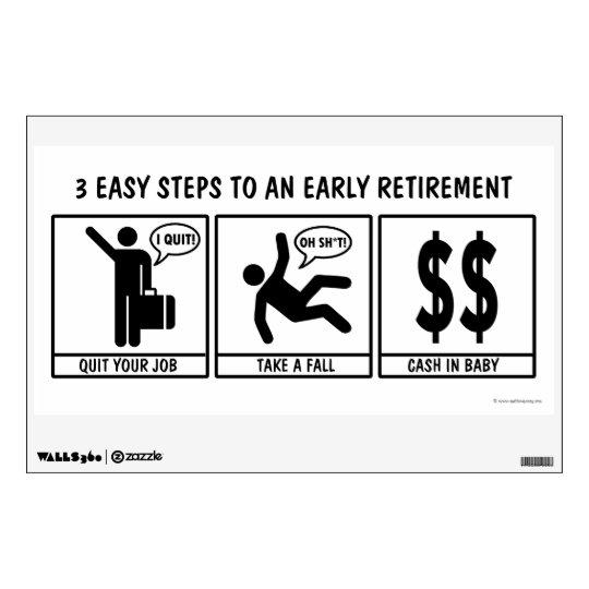 Get rich quick scheme wall sticker
