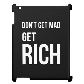 Get Rich Success Motivational Quote White on Black iPad Cases