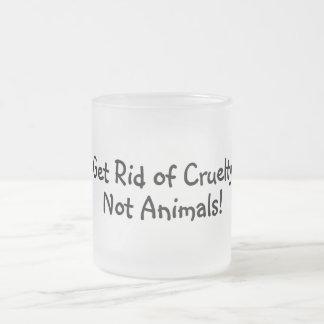 Get Rid Of Cruelty Not Animals Coffee Mug Cup