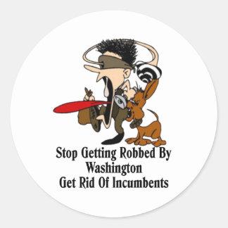 Get Rid Of Incumbents Classic Round Sticker