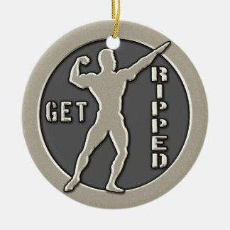 Get Ripped Ceramic Ornament