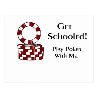 Get Schooled poker gaming items Postcard