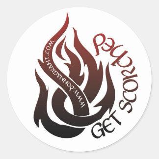 Get Scorched Classic Round Sticker
