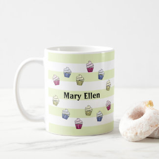 Get Set Bake colorful cupcakes custom name Coffee Mug