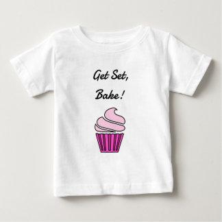 Get set bake pink cupcake t shirt