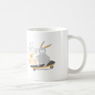 """Get Skatin' Not Hatin'"" Rabbit Coffee Mug"