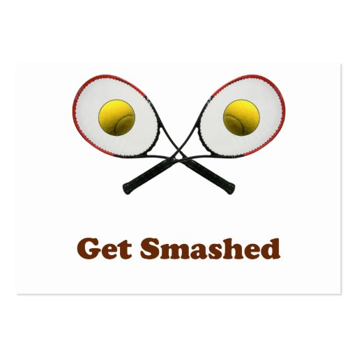 Get Smashed Tennis Business Cards
