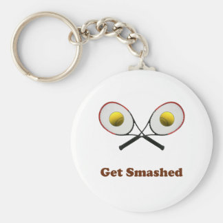 Get Smashed Tennis Keychain