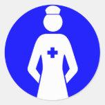 Get smile from nurse sticker