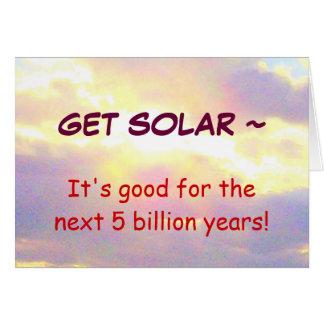 GET SOLAR card