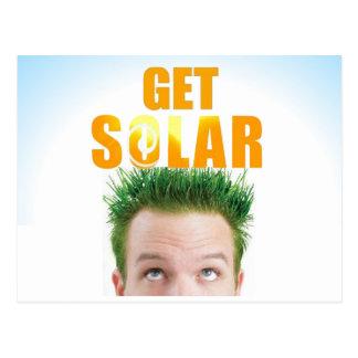 Get Solar Logo Ecofriendly Clean Energy Post Card