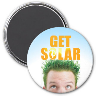 Get Solar Logo Ecofriendly Energy Magnet