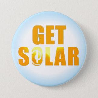 Get Solar Logo Ecofriendly Solar Energy Button
