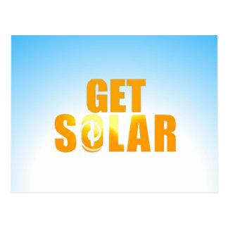 Get Solar Logo Ecofriendly Solar Energy Postcard