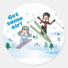 Get some air! classic round sticker