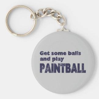 Get Some Balls Basic Round Button Keychain