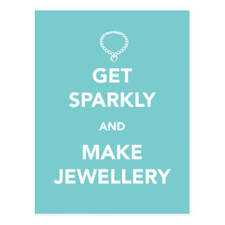 Get Sparkly and Make Jewellery Postcard